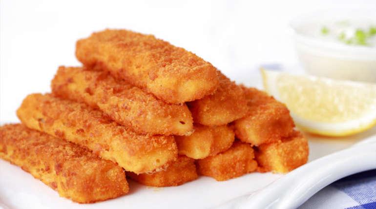Рыбные палочки из лососевых