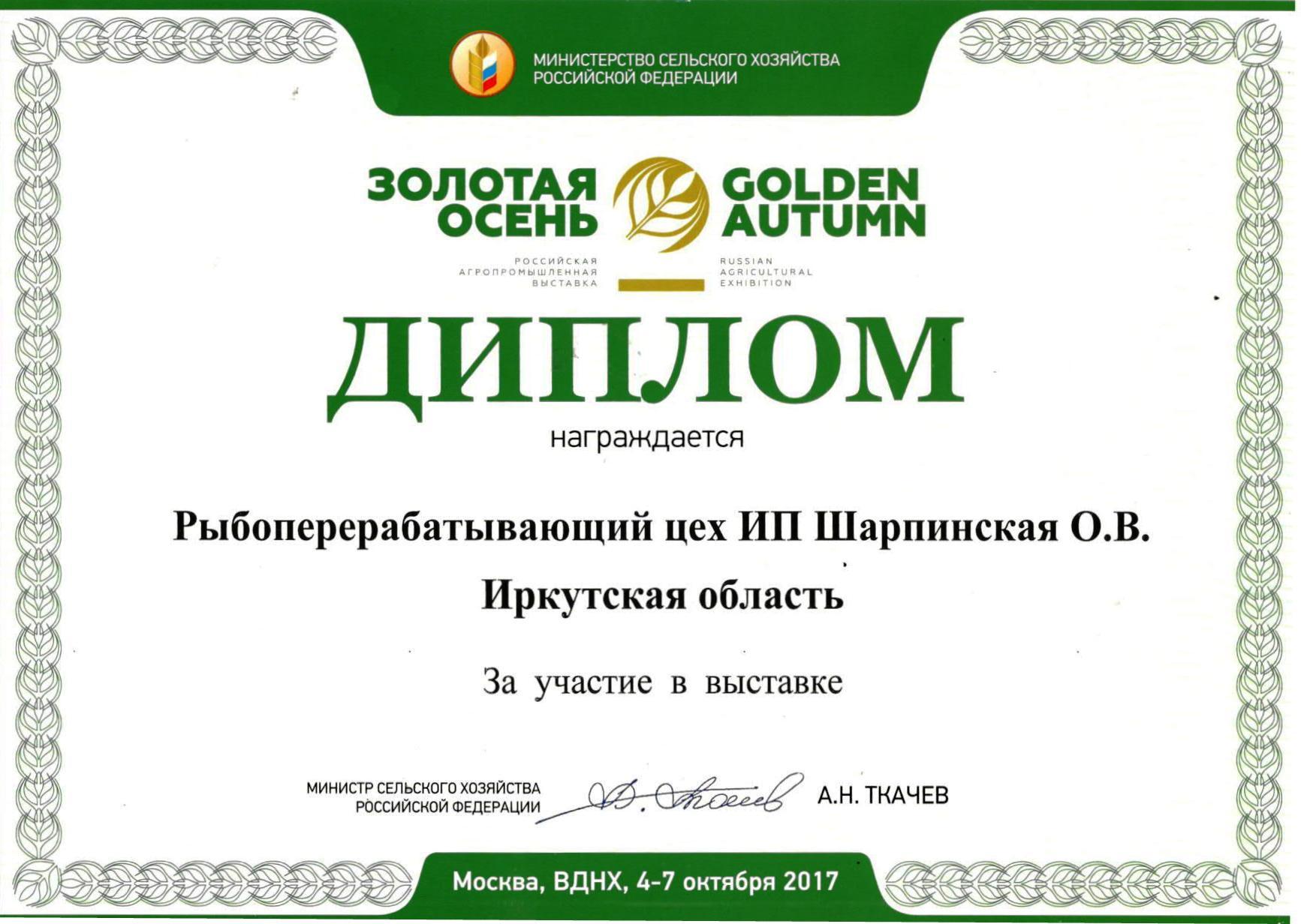 Золотая осень 2017 1