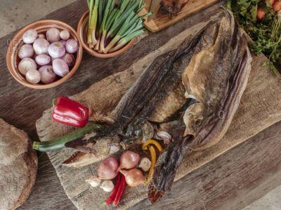 Рыба вяленая